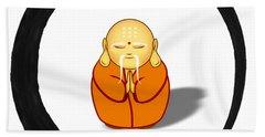 Zen Symbol With Buddha Hand Towel