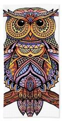 Zentangle Owl Hand Towel