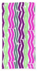 Zig Zig Stripes Hand Towel