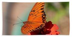 Zinnia With Butterfly 2669 Bath Towel