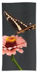 Zinnia With Butterfly 2702 Hand Towel