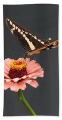 Zinnia With Butterfly 2702 Bath Towel