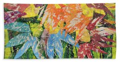 Zinnias Gone Mad Bath Towel