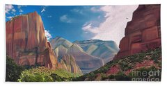Zion Cliffs Hand Towel by Walter Colvin
