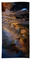 Hand Towel featuring the photograph Zion Gold by Dustin LeFevre