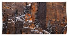 Hand Towel featuring the photograph Zion Staircase  by Dustin LeFevre