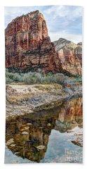 Zions National Park Angels Landing - Digital Painting Hand Towel