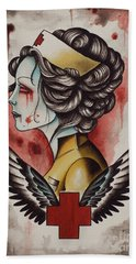 Zombie Nurse Bath Towel