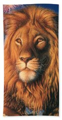 Zoofari Poster The Lion Bath Towel
