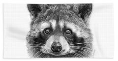 046 Zorro The Raccoon Bath Towel by Abbey Noelle