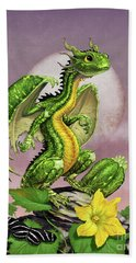 Hand Towel featuring the digital art Zucchini Dragon by Stanley Morrison