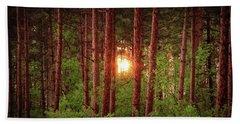 010 - Pine Sunset Bath Towel