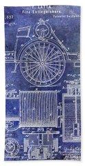 1873 Fire Extinguisgers Patent Bath Towel