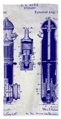 1889 Fire Hydrant Patent Blueprint Bath Towel