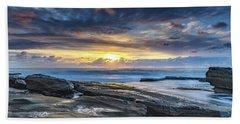 An Atmospheric Coastal Sunrise Hand Towel