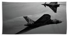 Avro Vulcan Xh558 And Eurofighter Typhoon Gina. Hand Towel
