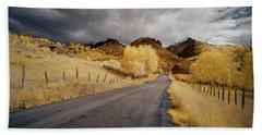 Back Road In Colorado Hand Towel