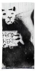 Banksy Rat The End Is Here Hand Towel