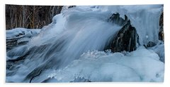 Big Hills Springs Under Snow And Ice, Big Hill Springs Provincia Hand Towel