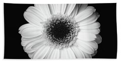 Black And White Flower Hand Towel