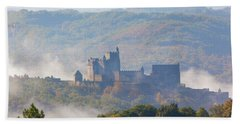 Chateau Beynac In The Mist Bath Towel