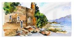 Church Of Primacy, Galilee Bath Towel