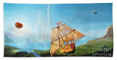 City On The Sea Hand Towel