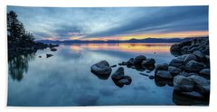 Colorful Sunset At Sand Harbor Hand Towel