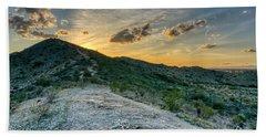 Dramatic Mountain Sunset  Hand Towel