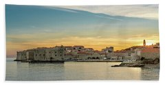 Dubrovnik Old Town At Sunset Bath Towel