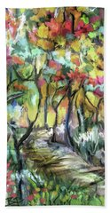 Forest Path Hand Towel