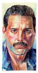 Freddie Mercury Painting Bath Towel