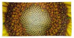 Ghost Sunflower Hand Towel