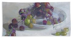Greek Grapes Hand Towel