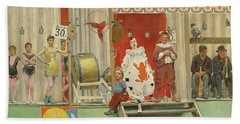 Grimaces And Misery, The Acrobats, 19th Century Hand Towel