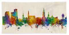 Groningen The Netherlands Skyline Hand Towel