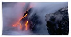 High Angle View Of Lava Flowing Bath Towel