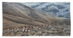 High Country Pronghorn Hand Towel