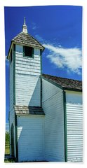 Historic Mcdougall Church, Morley, Alberta, Canada Bath Towel