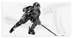 Hockey Player Bath Towel