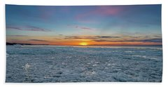 Icy Sunset Bath Towel