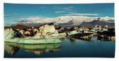 Jokulsarlon Lagoon, Iceland Bath Towel