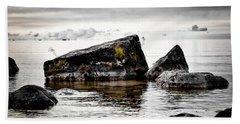 Lake Hurons Rocky Shore Bath Towel