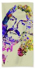 Legendary George Harrison Watercolor II Hand Towel