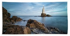 Lighthouse In Ahtopol, Bulgaria Bath Towel