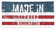 Made In Redmond, Washington Bath Towel