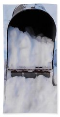 Mailboxes Covered In Snow 5 Hand Towel