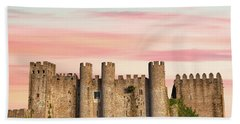 Medieval Castle Of Obidos Hand Towel
