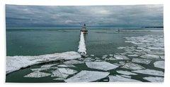 Milwaukee Breakwater Lighthouse Hand Towel