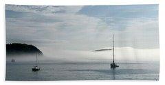 Morning Mist On Frenchman's Bay Bath Towel